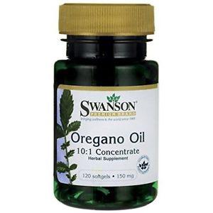 Swanson Oregano Oil 10:1 Extract 150 mg 120 Sgels