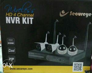 White Wireless HD 4 Channel NVR Kit