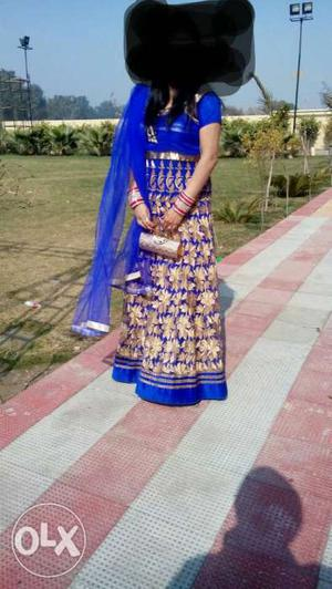 Beautiful blue long dress for any occasion.