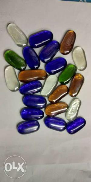 DaY Glass Decorative Pebbles/stones colourful
