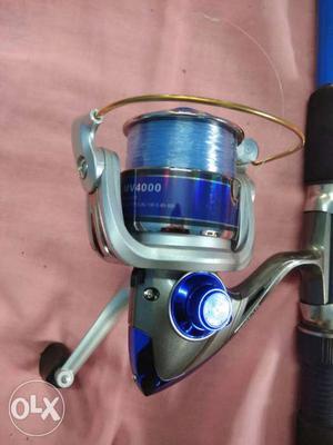 Grey Fishing Reel