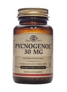 Solgar Pycnogenol Vegetable Capsules, 30 Mg, 60 ct