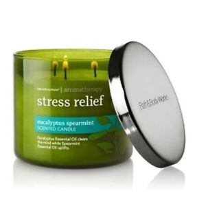 Bath & Body Works, Aromatherapy Stress Relief 3-Wick Candle,