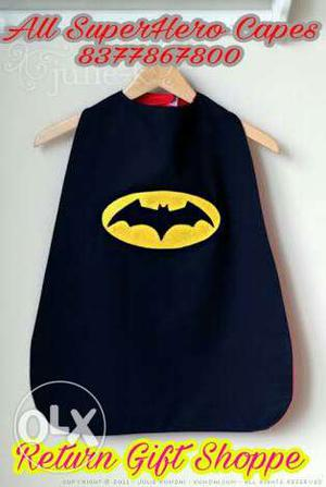 Black Batman Cape for Theme Birthday Party or Return Gift
