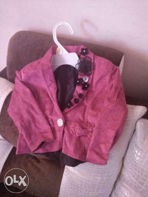Its bith of brand new kids wear party wear hot pink blazer