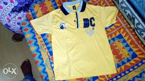 Kid's Yellow And Blue DC Brand Polo Shirt