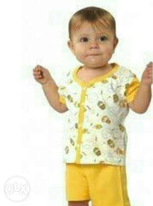 Stock clearance sale  pcs front open kidswear