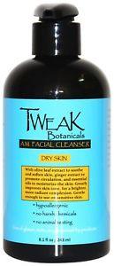 TWEAK Botanicals Facial Cleanser, Anti Aging Treatment, Dry