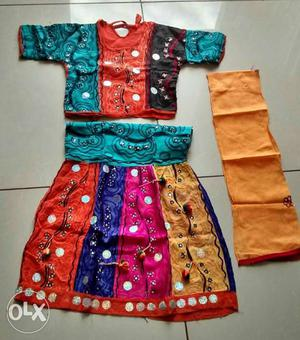 Two chaniya choli only for 3 to 5 years girl