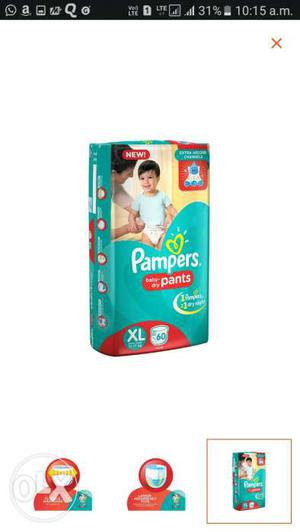 XL baby Pamper diapers sealed pack absolutely new