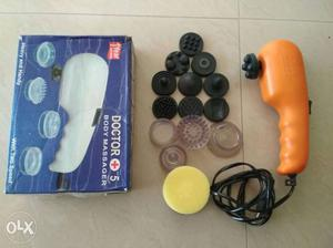 Black And Orange Body Massager With Box