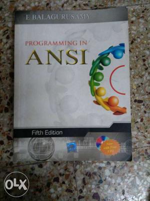 Programming In ANSI Book