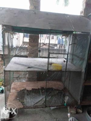 Gray Steel Chicken Coop
