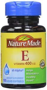 Nature Made Vitamin E 400, IU Softgels, 100 ct Pack of 2