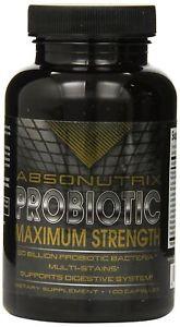 2 Absonutrix Probiotic Maximum Strength 50 Billion Per