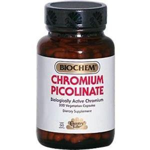 Country Life Chromium Picolinate, 200 mcg, 200-Count