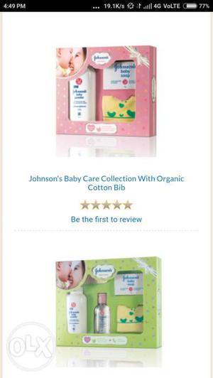 Johnson's baby product set