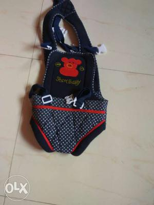 Baby's Blue And Red Stuff Baby Carrier