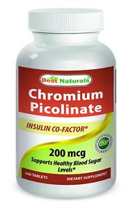 Best Naturals Chromium Picolinate 200 mcg 240 tablets