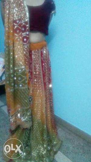 Designer PartyWear Bridal Heavy Lehenga Gentle