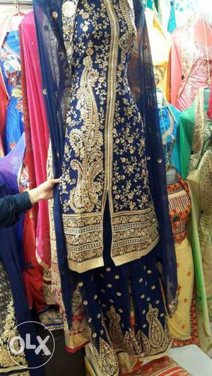 Grab this beautiful sharara with heavy embroidery