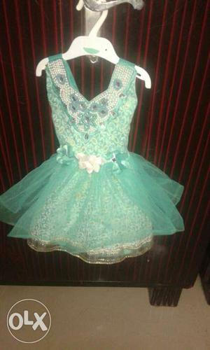 KidZ Blue Sleeveless Dress 1 yr baby size 18