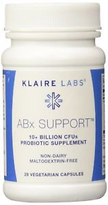 Klaire Labs ABx Support 28 Vegetarian Capsules (F)