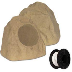 """Theater Solutions 2R8S Outdoor Sandstone 8"""" Rock 2 Speaker"""