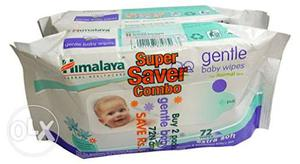 Two Himalaya Gentle Baby Wipes Packs