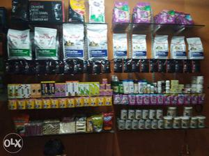 Dog food and accessories available akota