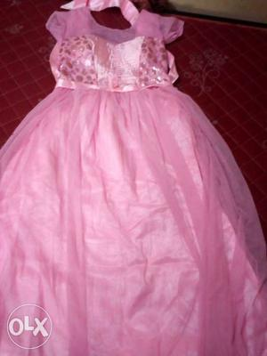 Party wear womens pink gown 1.