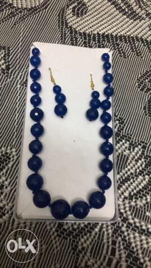 Royal blue set with plastic case totally new