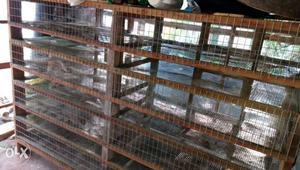 Brown wooden chicken coop