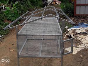 Gray Metal Chicken Coop