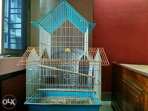 Six months old birds cage for sale in very good