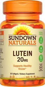 Sundown Naturals Lutein 20 mg, 30 Softgels