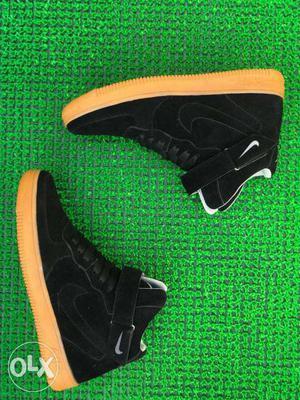 Pair Of Black Nike Air Force One