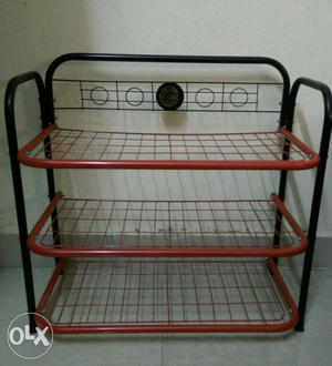 Small 3 Shelf Storage Rack Shelving unit in Metal