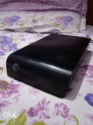 Black Seagate Portable Hard Drive