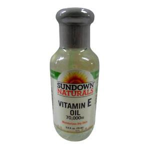 Sundown Naturals Vitamin E Oil  Iu 2.5 Oz (Pack of 2)
