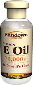 Sundown NaturalsPure Vitamin E-Oil  IU, 2.5 Ounces Pack