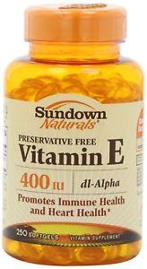 Sundown Vitamin E, 400 Iu, Dl-Alpha Softgels, 250-ct