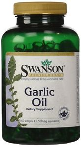 Swanson Garlic Oil Equivalent to  mg 500 Sgels