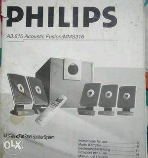 5.1 channel Dolby digital DTS PHILIPS home