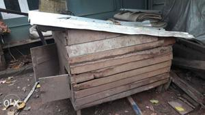 Brown And Black Chicken Coop