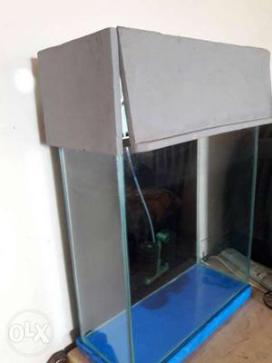 Fish tank with water proof wooden hood,light and