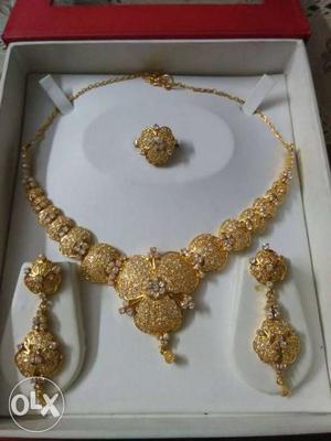American diamond set necklace jewellery...