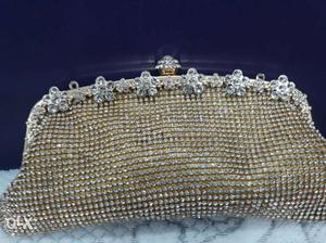 Bridal Gold and silver clutch...Purse..