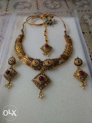 Kundan set necklace jewellery