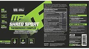 Muscle Pharm Shred Sport 60 Capsules (2 Pack)